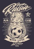 De Russie avec amour vecteur