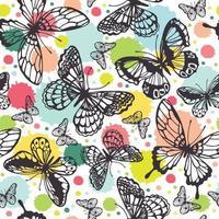motif de papillons de vecteur. abstrait sans soudure. vecteur