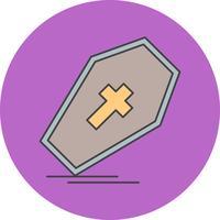 icône de cercueil de vecteur