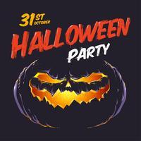 Flyer fête d'halloween vecteur