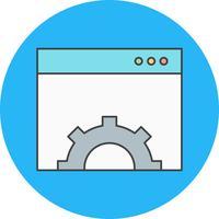 icône de paramétrage du navigateur de vecteur