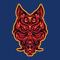 illustration vectorielle de tête de sanglier tribal vecteur