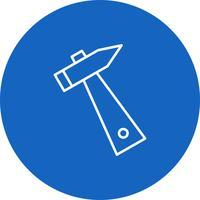 Icône de marteau de vecteur