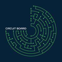 Vecteur de circuit imprimé incroyable