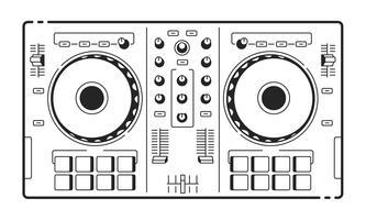 Contrôleur Usb DJ vecteur