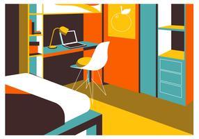 Vecteur de fond de bureau plat minimaliste