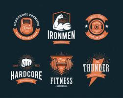 Emblèmes de fitness rétro