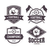 Emblèmes de football vecteur