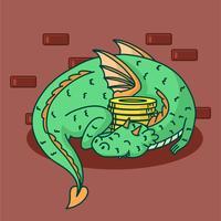 Vecteur école dragon assistant