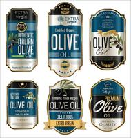 Collection rétro vintage d'huile d'olive à l'huile d'olive