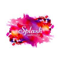 Arrière-plan de conception splash aquarelle dessiné à la main vecteur