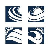 eau vague icône vector illustration design logo