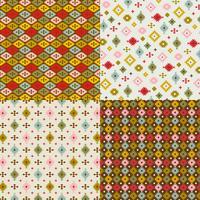 motifs géométriques primitifs vecteur