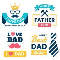 fête des pères anniversaire Vector Logo pour bannière