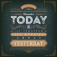 Affiche de citation de motivation calligraphique vintage