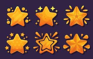 éléments étoiles dorées vecteur