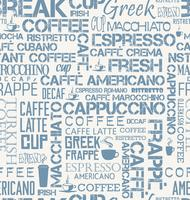 Tuile sans couture de fond de mots de café et de symboles vecteur