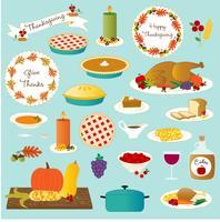 nourriture de thanksgiving