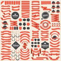 Ruban Vintage Vector Logo pour bannière