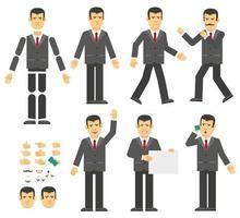 constructeur d'homme d'affaires. peut-être créer votre propre posture et gestes vecteur