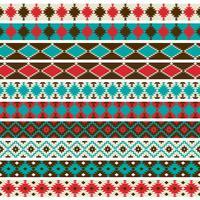 Graphiques de motifs de frontière amérindienne vecteur