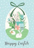 Joyeuses Pâques. Modèle de vecteur