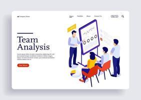 équipe de consultants en gestion de projet et analyse de rapports financiers vecteur