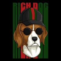 illustration vectorielle de chien riche beagle vecteur