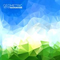 Fond de triangles géométriques de vecteur. Conception de ciel abstrait polygonale. vecteur