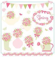 Fleurs de printemps d'avril vecteur