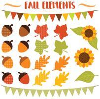 Éléments floraux d'automne vecteur