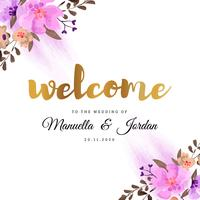 Bienvenue à notre conception florale de mariage vecteur