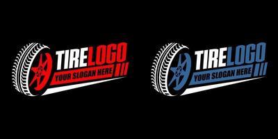 vecteur de logo de pneu