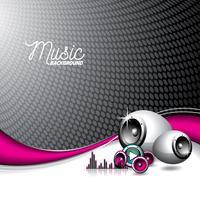 illustration vectorielle pour thème musical avec haut-parleurs vecteur