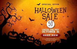 Illustration de bannière Halloween vente vecteur