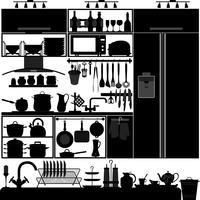 Design d'intérieur d'ustensiles de cuisine.