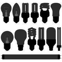 Ensemble d'ampoules. vecteur