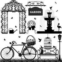 Parc de jardin récréatif. vecteur