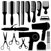 Accessoires de cheveux Silhouette Vector. vecteur