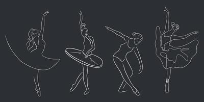 ensemble de danseurs de ballet vecteur