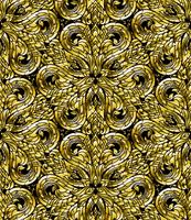 Ligne Thai modèle sans couture, l'art traditionnel thaïlandais a été modifié pour être le ton d'or.