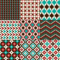motifs géométriques américains vecteur