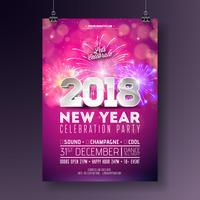 Modèle d'Affiche de fête du nouvel an vecteur