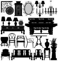 Ensemble de meubles anciens.