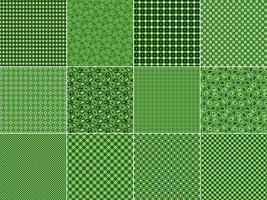 Motifs Bandana Vert vecteur