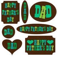 fête des pères sur des pancartes en bois