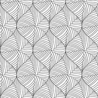 Modèle sans couture de vecteur d'éléments décoratifs noir et blanc.