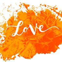 Inscription amour, étiquettes dessinées à la main pour les cartes de voeux,