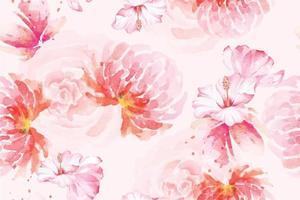 modèle sans couture rose avec aquarelle 36 vecteur