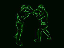 boxe vecteur
